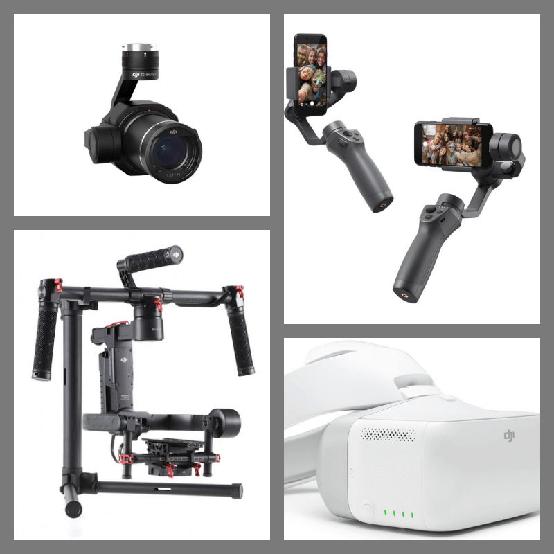 Zenmuse X7, Osmo Mobile 2, Ronin-M, FPV Goggles