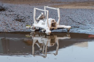 drone in water