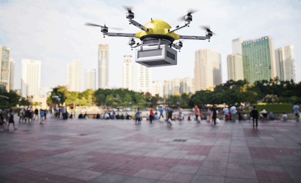 Positive use of drones. Drone delivery.